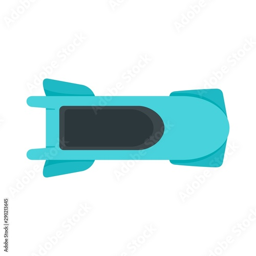 Wallpaper Mural Top view bobsleigh icon