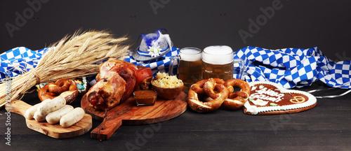Fotografia Traditional German cuisine, Schweinshaxe roasted ham hock