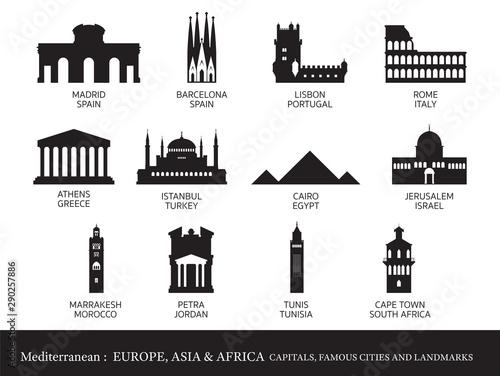 Photo Mediterranean Europe, Africa, Asia Cities Landmarks Silhouette