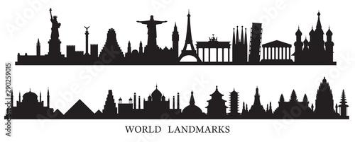 Fotografia World Skyline Landmarks Silhouette