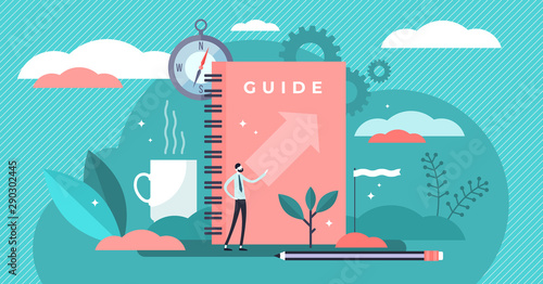 Guide vector illustration Fotobehang