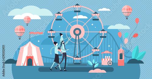 Leinwand Poster Carousel vector illustration