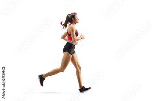 Wallpaper Mural Female athlete jogging