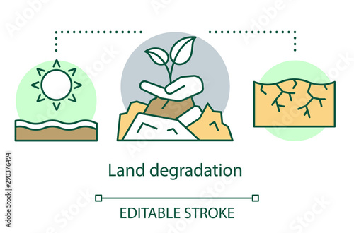 Land degradation concept icon Fototapeta