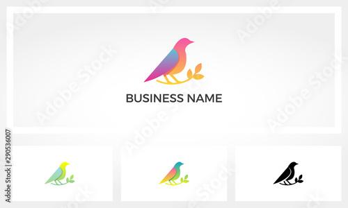 Canvas Print Bird On A Branch Logo