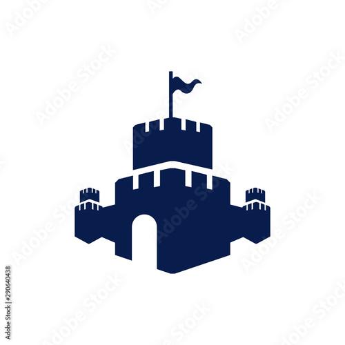 Canvas Print Creative Castle fortress logo vector design icon template