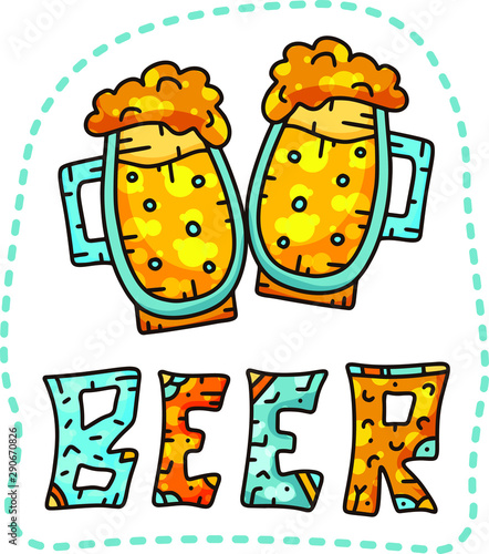 Fotografia Doodle cartoon sticker