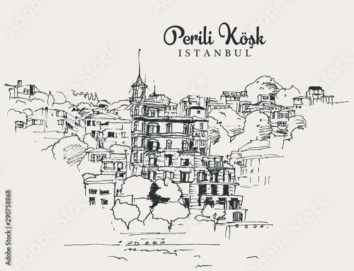Fotomural Drawing sketch illustration Perili Kosk
