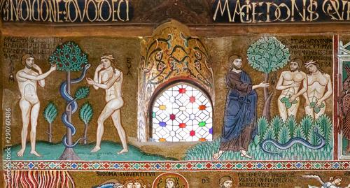 Fotografija Adam and Eve in Palatine chapel of Palermo