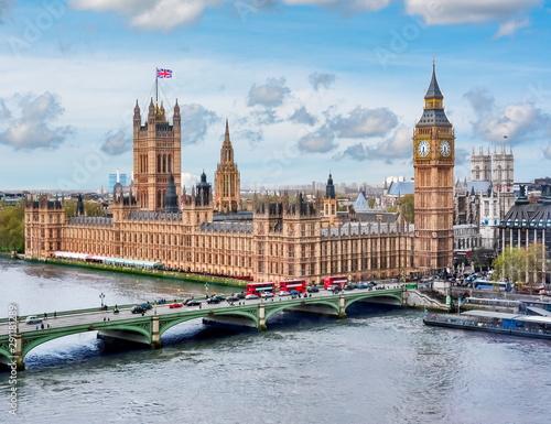 Fototapeta Westminster palace and Big Ben, London, UK