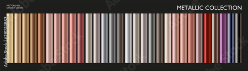 Obraz na płótnie Chromium, metallic pearl gradient set