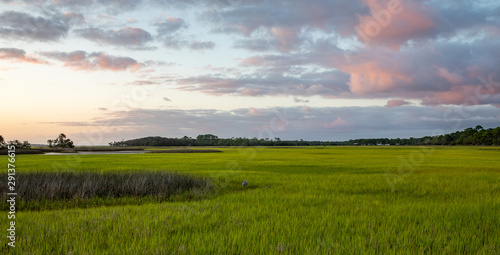 Salt Marsh on the intracoastal waterway in Florida Fototapeta