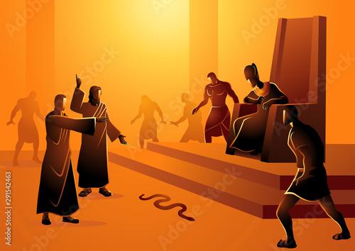 Obraz na plátně Moses Turn Staff Into Snake