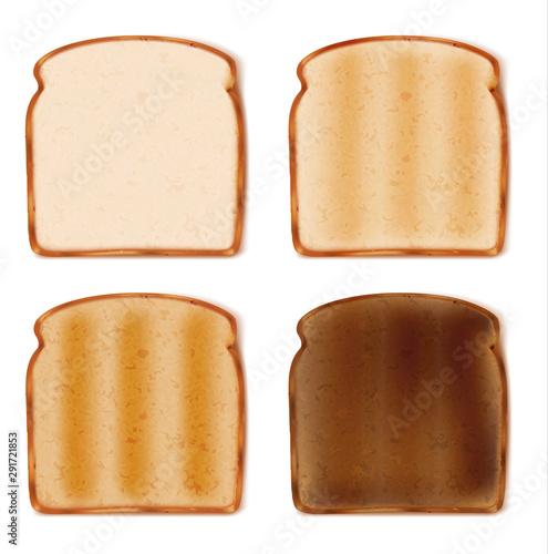 фотография sliced toast bread isolated on white