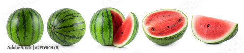 Photo watermelon isolated on white background
