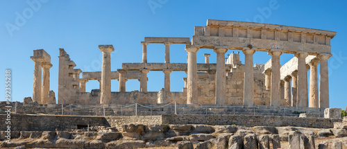 Photographie Aphaia temple in Egina island in Greece