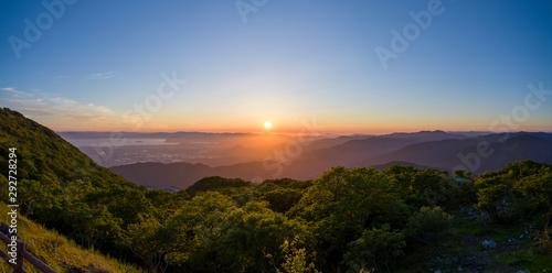 Fotografie, Obraz Sunset at Mount Ibuki, Japan