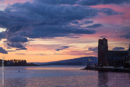 Sunset on the Harbor, Oban, Scotland Fototapeta