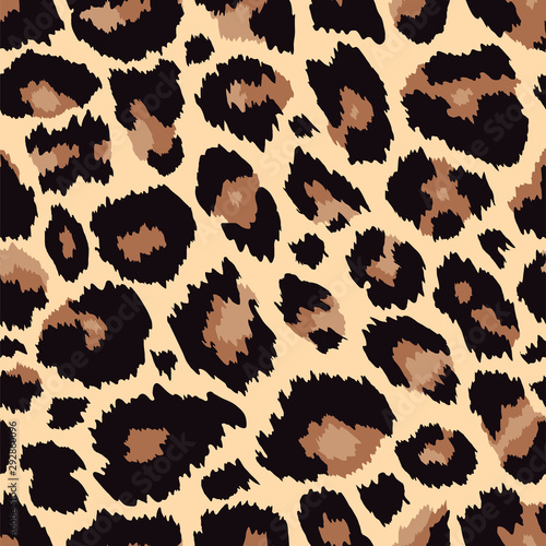 Stampa su Tela Trendy leopard seamless pattern brown