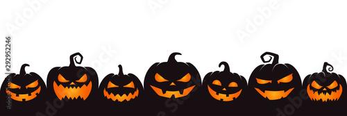 Fotografiet halloween pumpkin on white background