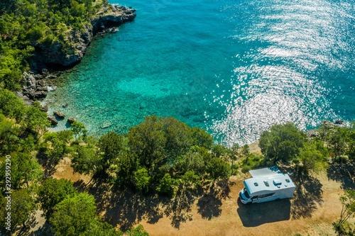 Sea Front RV Campsite Fototapet