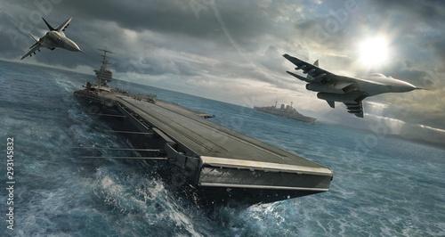 Canvas Print Naval Offensive