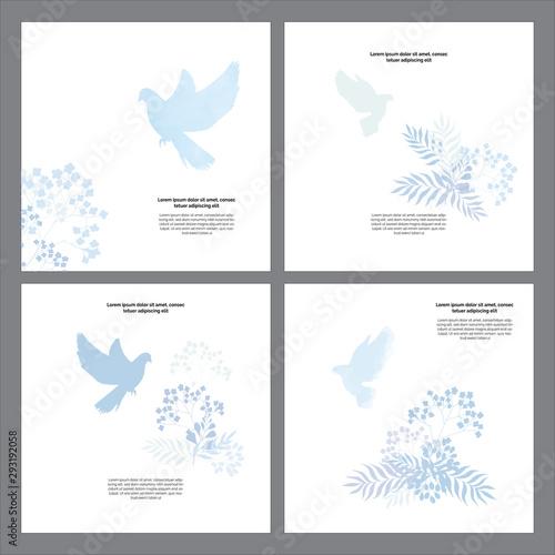 Classic, universal religious templates cards God bless you Fototapeta