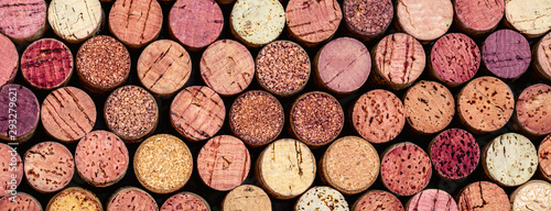 Obraz na plátne Wine corks Pattern