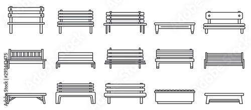 Fotografering Street bench icons set