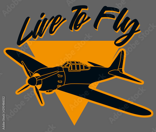 Canvas Print Live to fly art