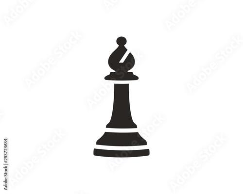 Chess bishop icon symbol vector Fototapete