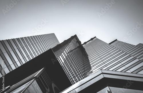 Hong Kong Commercial Building Close Up; Black and White style Tapéta, Fotótapéta