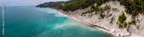 Photo panorama of a seashore