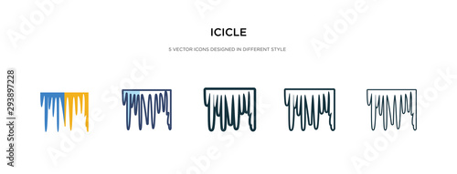 Canvas Print icicle icon in different style vector illustration
