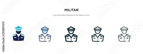 Obraz na plátne militar icon in different style vector illustration