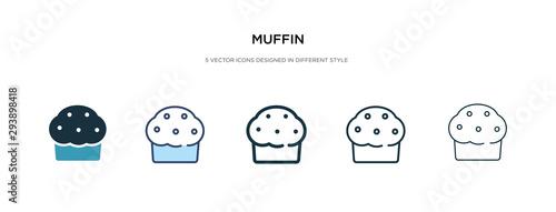 Fotografia muffin icon in different style vector illustration