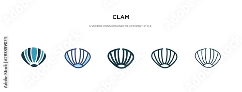 Fényképezés clam icon in different style vector illustration