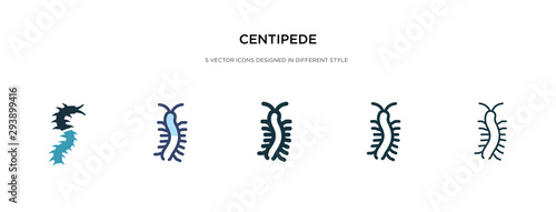 Leinwand Poster centipede icon in different style vector illustration