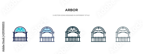 Foto arbor icon in different style vector illustration