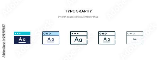 Obraz na płótnie typography icon in different style vector illustration