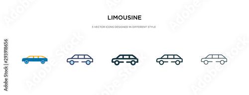 Fotografia limousine icon in different style vector illustration
