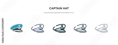 Obraz na plátne captain hat icon in different style vector illustration