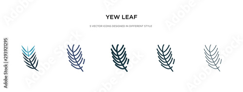 Fotografia yew leaf icon in different style vector illustration