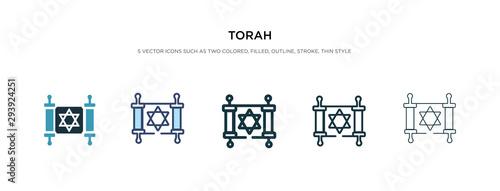 Fotografie, Obraz torah icon in different style vector illustration