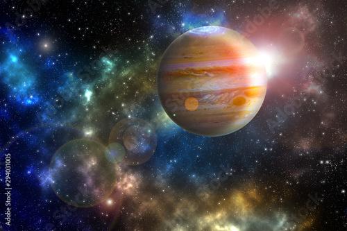 Fotografie, Obraz jupiter Elements of this image furnished by NASA