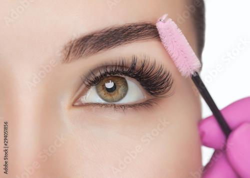 Slika na platnu Beautiful Woman with long eyelashes in a beauty salon