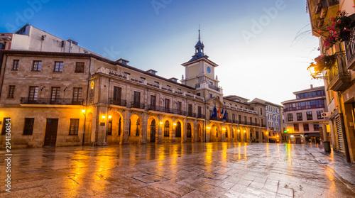 Fachada del ayuntamiento de Oviedo