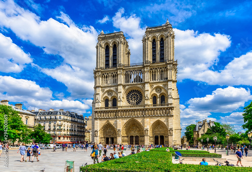 Carta da parati Cathedral Notre Dame de Paris in Paris, France