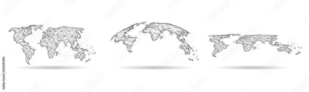 Globalne połączenie sieciowe. Koncepcja punktu i linii na mapie świata w globalnym biznesie. Ilustracja wektorowa <span>plik: #294293490 | autor: royyimzy</span>