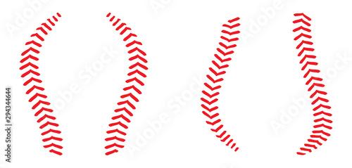 Canvas Print Baseball stitching lace